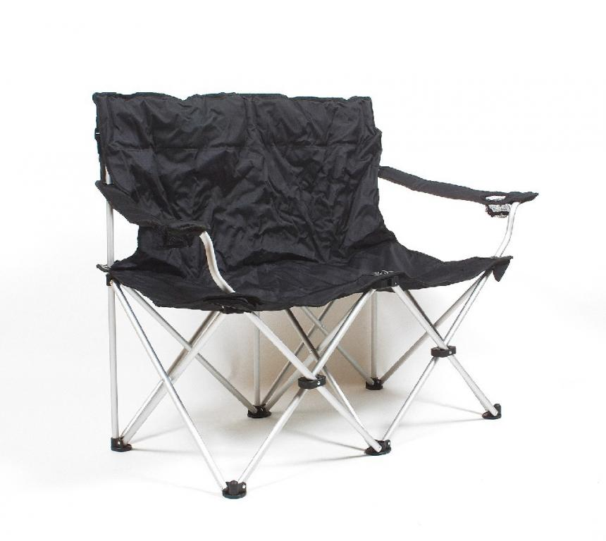 Travelchair Love Seat Folding Sofa Camping Chair Folding Chair Black Ebay