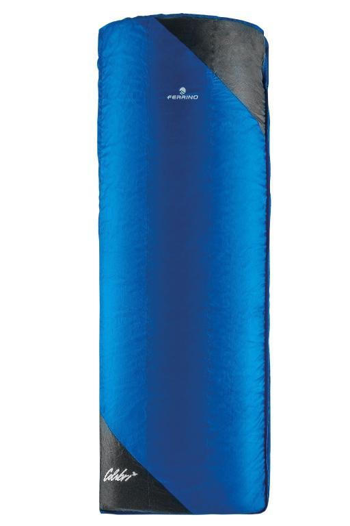 ferrino schlafsack colibri blau 190 x 75 cm kompressionssack offsetn hte k lteschutzkapuze. Black Bedroom Furniture Sets. Home Design Ideas