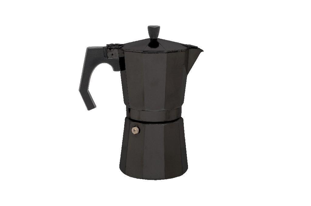 kaufen sie espresso maschine maker 9 tassen aluminium schwarz relags bei mctramp24. Black Bedroom Furniture Sets. Home Design Ideas