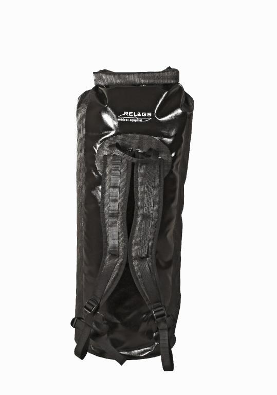 Relags Seesack Rucksack 60l schwarz Transportsack wasserdicht Packtasche Rollver